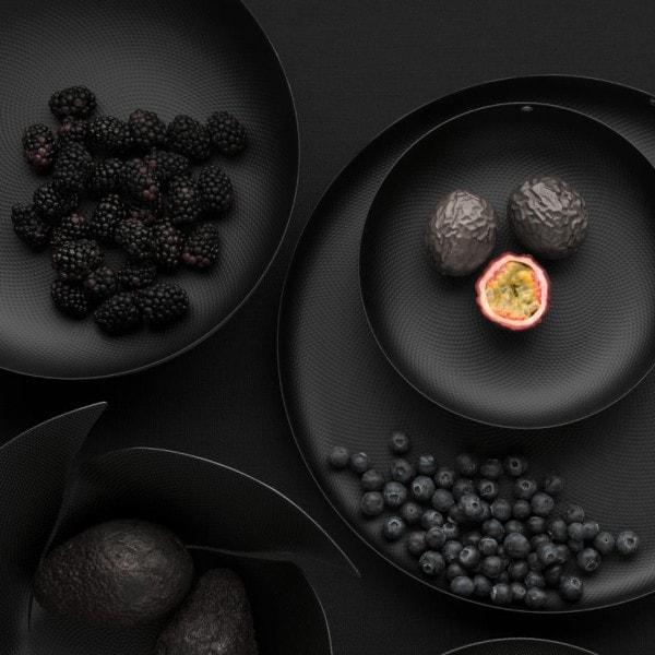 Alessi Schale mit Metallic-Relief schwarz - Größenwahl