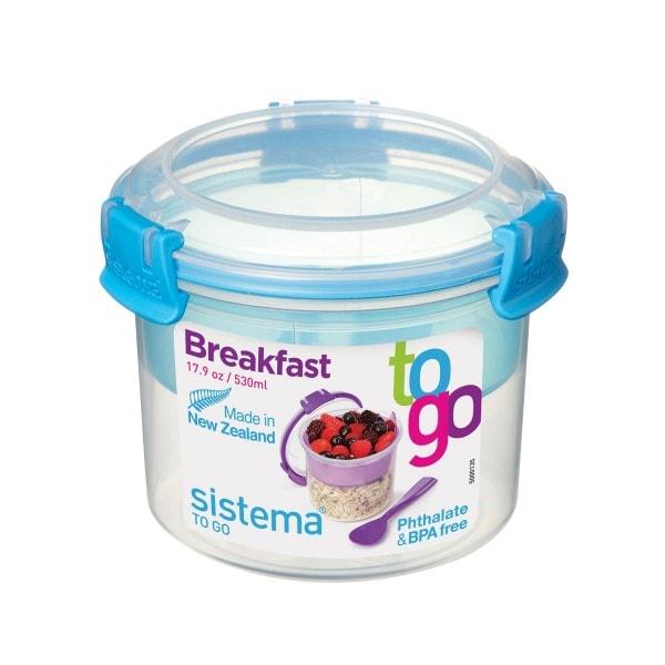 sistema Box Breakfast To Go 0.53 l, blau