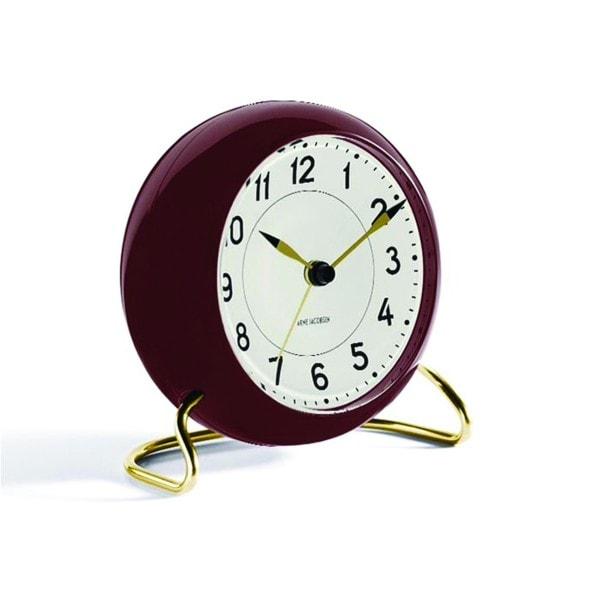 Rosendahl Tischuhr AJ Clock Station mit Alarm rotbraun gold