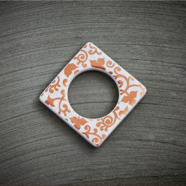 Cult Design Manschette für Teelichthalter Blumenwechsel kupfer