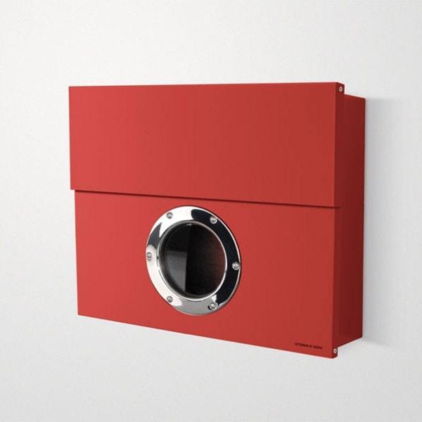 Briefkasten Radius radius briefkasten letterman rot briefkasten outdoor
