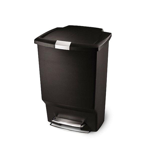 simplehuman Mülleimer RECTANGULAR Plast 45 l schwarz