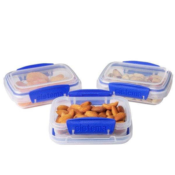 sistema Frischhaltedose Klip it, 0.2 l 3er-Set transparent-blau