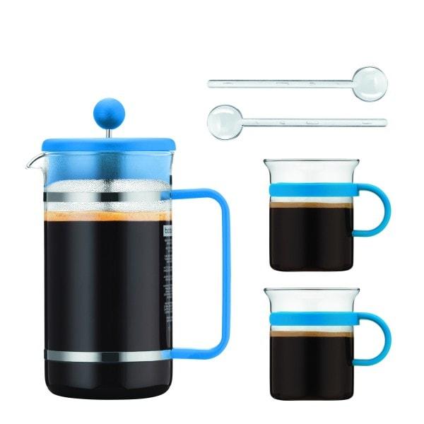 Bodum BISTRO Kaffeebereiter Set 1 l, blau