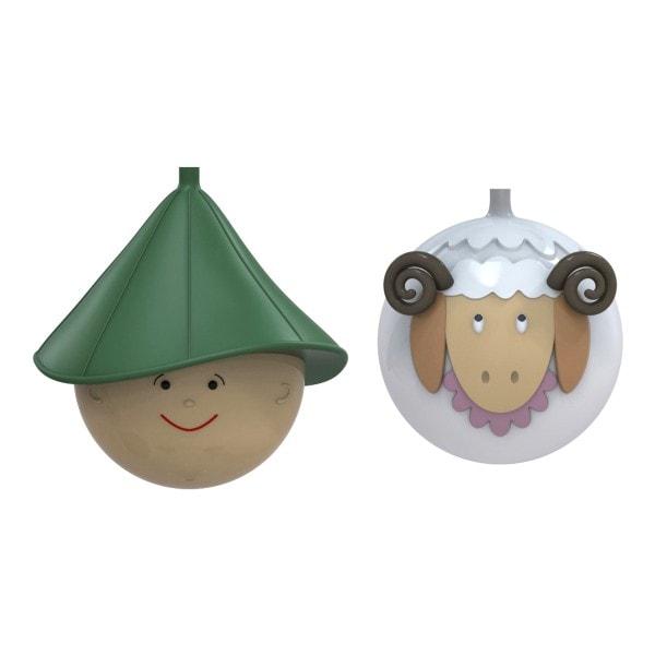 Alessi Weihnachtsbaumkugel Set Schaf & Schäfer