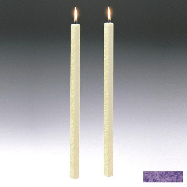 Amabiente Kerze CLASSIC Violett 40cm - 2er Set