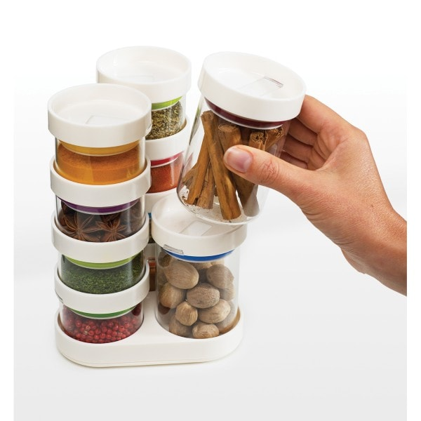 Joseph Joseph Gewürzglas-Set Spice Store, weiß