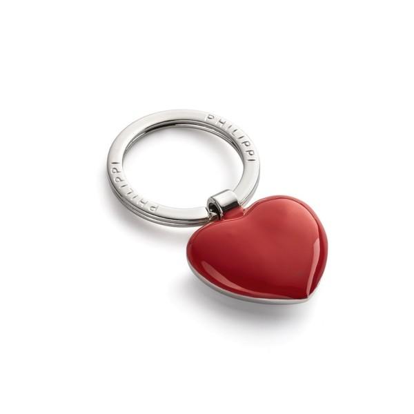 Philippi Schlüsselanhänger Herz rot-silber
