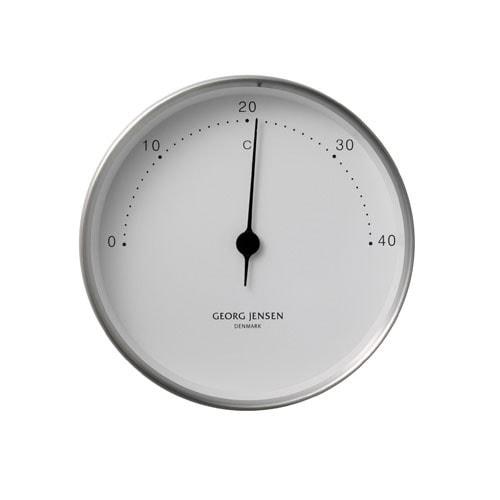 Georg Jensen Thermometer HENNING KOPPEL 10cm stahl-weiß