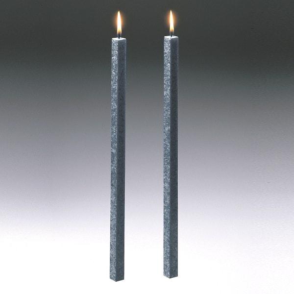 Amabiente Kerze CLASSIC stein 40cm - 2er Set