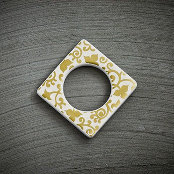 Cult Design Manschette für Teelichthalter Blumenwechsel gold