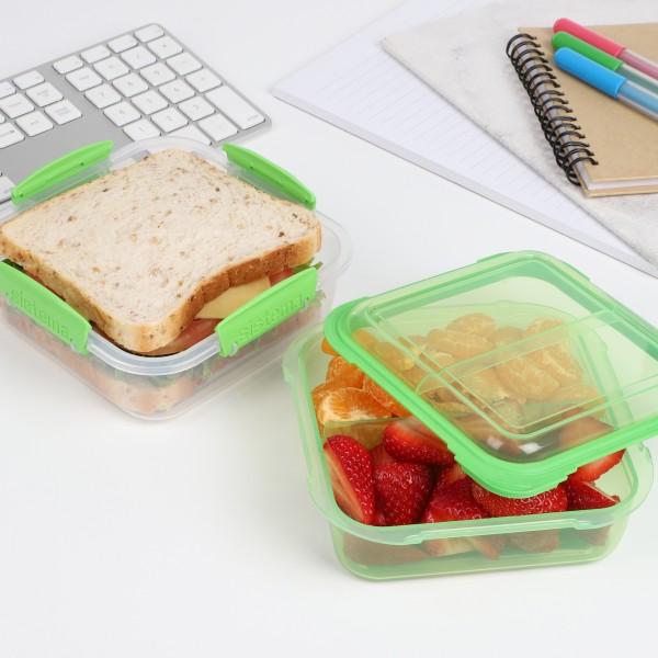 sistema Lunchbox Stack 1.24l , transparent-grün