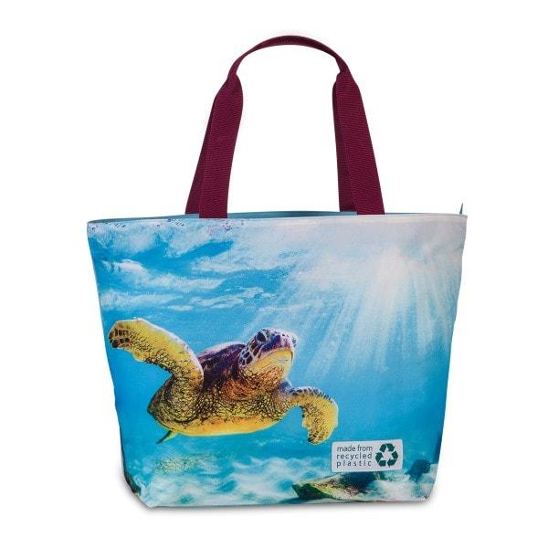 Fabrizio recycelte Sommertasche, Schildkröte