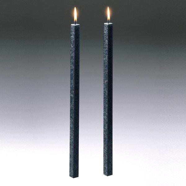 Amabiente Kerze CLASSIC anthrazit 40cm - 2er Set