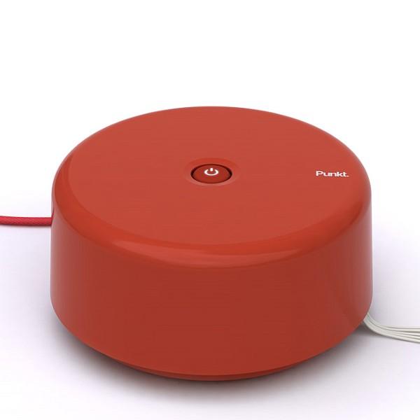 Punkt. Stromverteiler und Kabelverwaltung rot