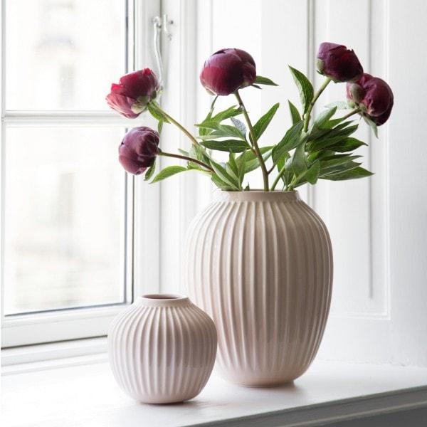 Kähler Vase Hammershøi 20 cm, zart rose