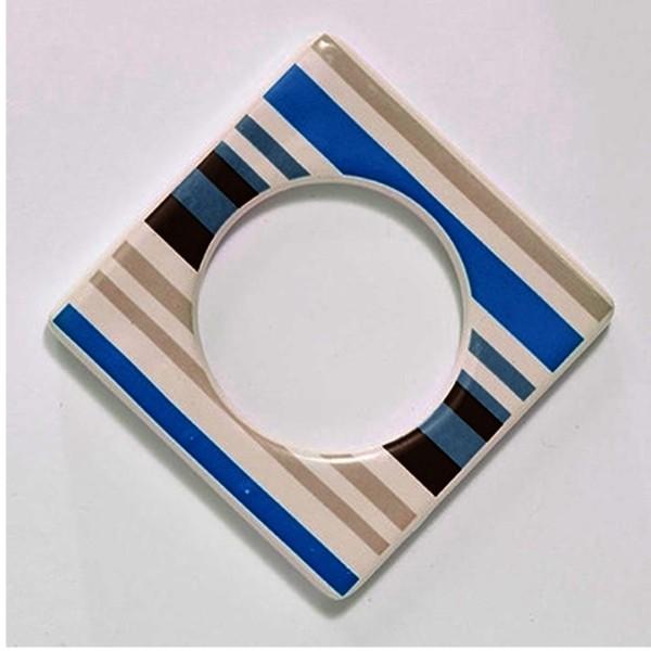 Cult Design Manschette für Teelichthalter blau gestreift