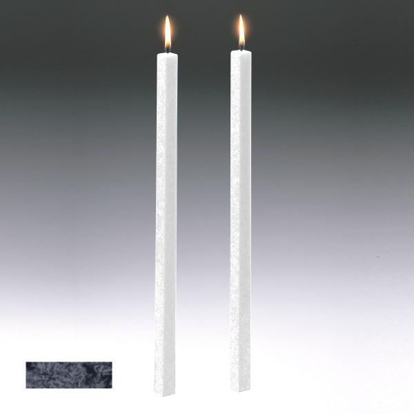 Amabiente Kerze CLASSIC anthrazit 19cm - 4er Set