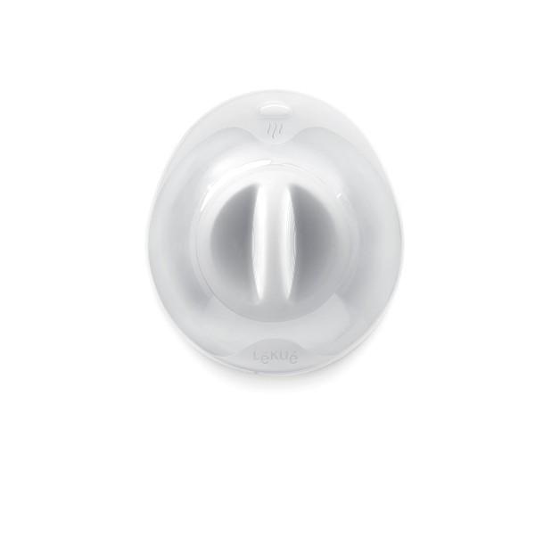Lekue Saug-Deckel Silikon, milchig 25cm