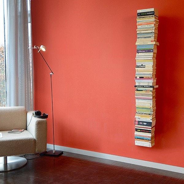 Radius Booksbaum 2 Wand gross, Bücherregal, schwarz