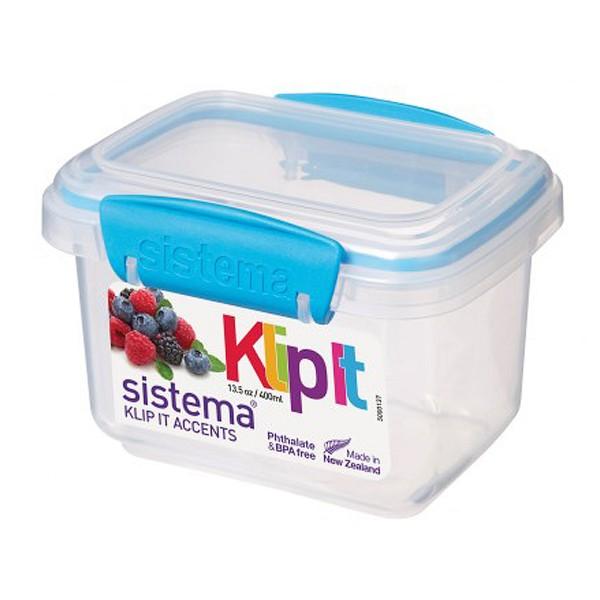 sistema Frischhaltedose Klip it accents, 0.4 l blau