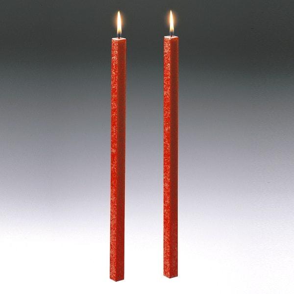 Amabiente Kerze CLASSIC koralle 40cm - 2er Set
