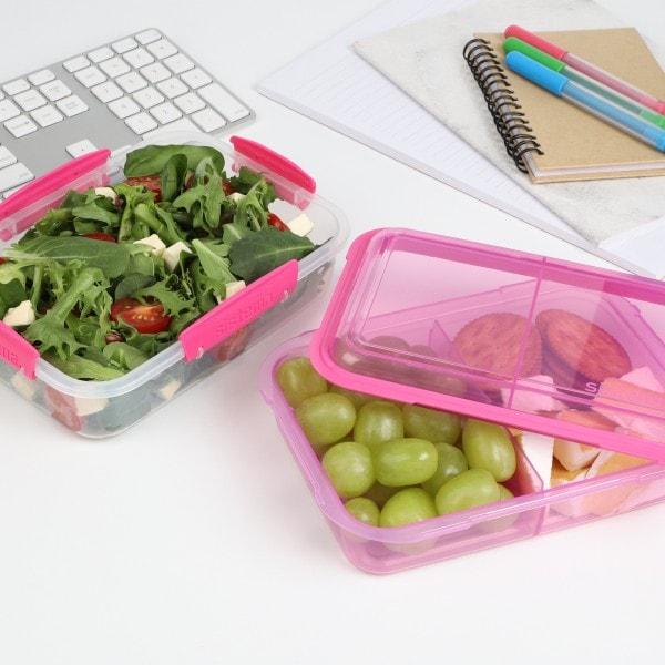 sistema Lunchbox Stack 1.8l , transparent-pink