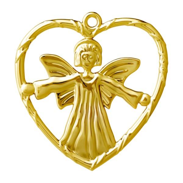 Rosendahl Weihnachtsbaumschmuck Engel im Herz vergoldet