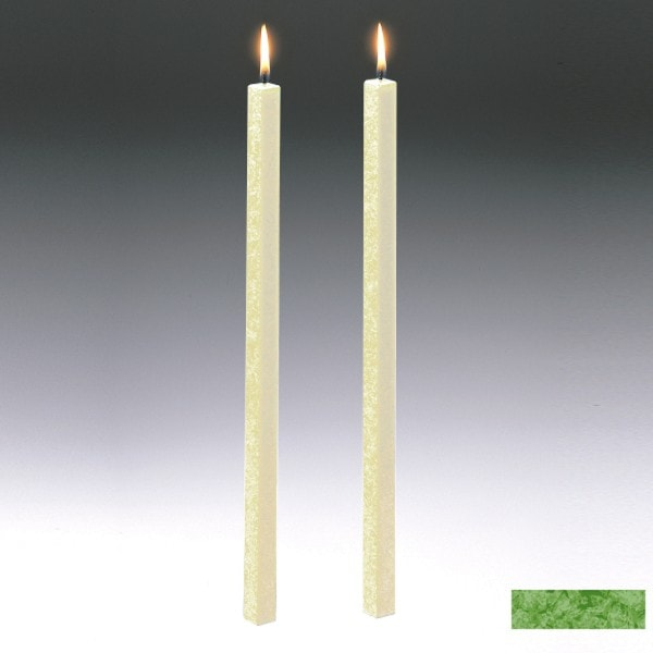 Amabiente Kerze CLASSIC Gras 40cm - 2er Set