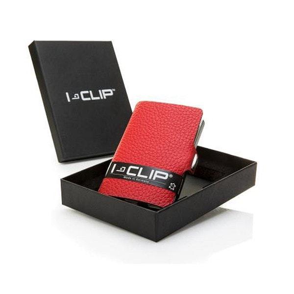 I-Clip Geldklammer und Kartenetui, rot