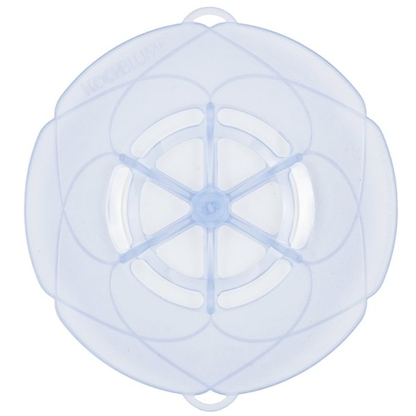 Kochblume Überkochschutz eisblau-transparent 33 cm