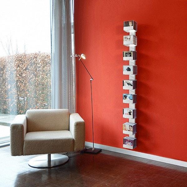 RADIUS CD-Baum 2 - Wandregal groß, weiß