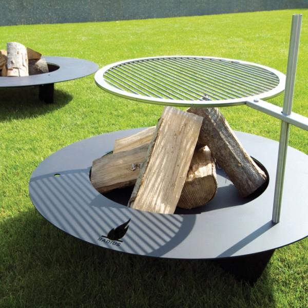 Radius Feuerstelle - Grill FIREPLATE schwarz 75 cm