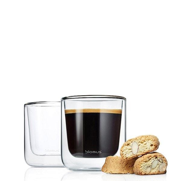 BLOMUS Kaffee Gläser NERO, 2er Set