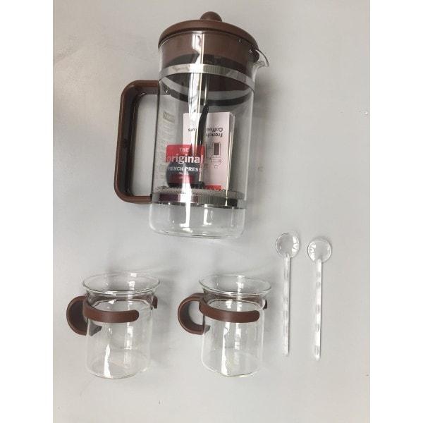 Bodum BISTRO Kaffeebereiter Set 1 l, dunkelbraun