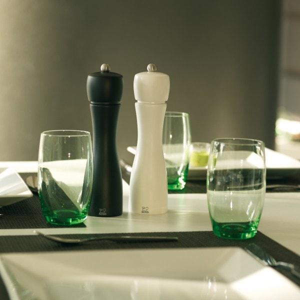 Peugeot Salz- und Pfeffermühle TAHITI DUO schwarz-weiß 15cm