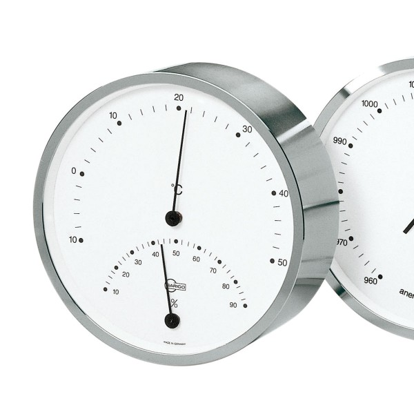 Barigo Thermo- Hygrometer silber