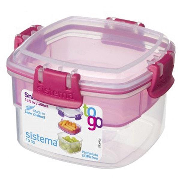 sistema Aufbewahrungsbox Snack To Go 2er Set pink, lila