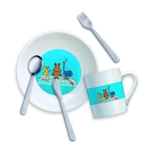 Mono Kinderset mit Teller und Becher DIE MAUS - 5-teilig
