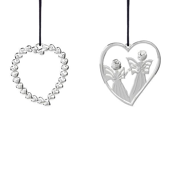 Rosendahl Weihnachtsbaumschmuck - Herzkranz und Herzengel