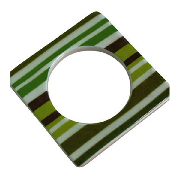 Cult Design Manschette für Teelichthalter grün gestreift