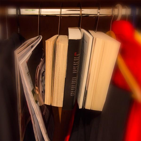 Stahlglanz Bücherhaken Edelstahl glänzend